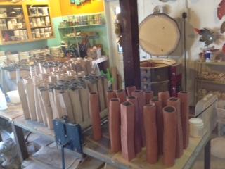 vases in progress